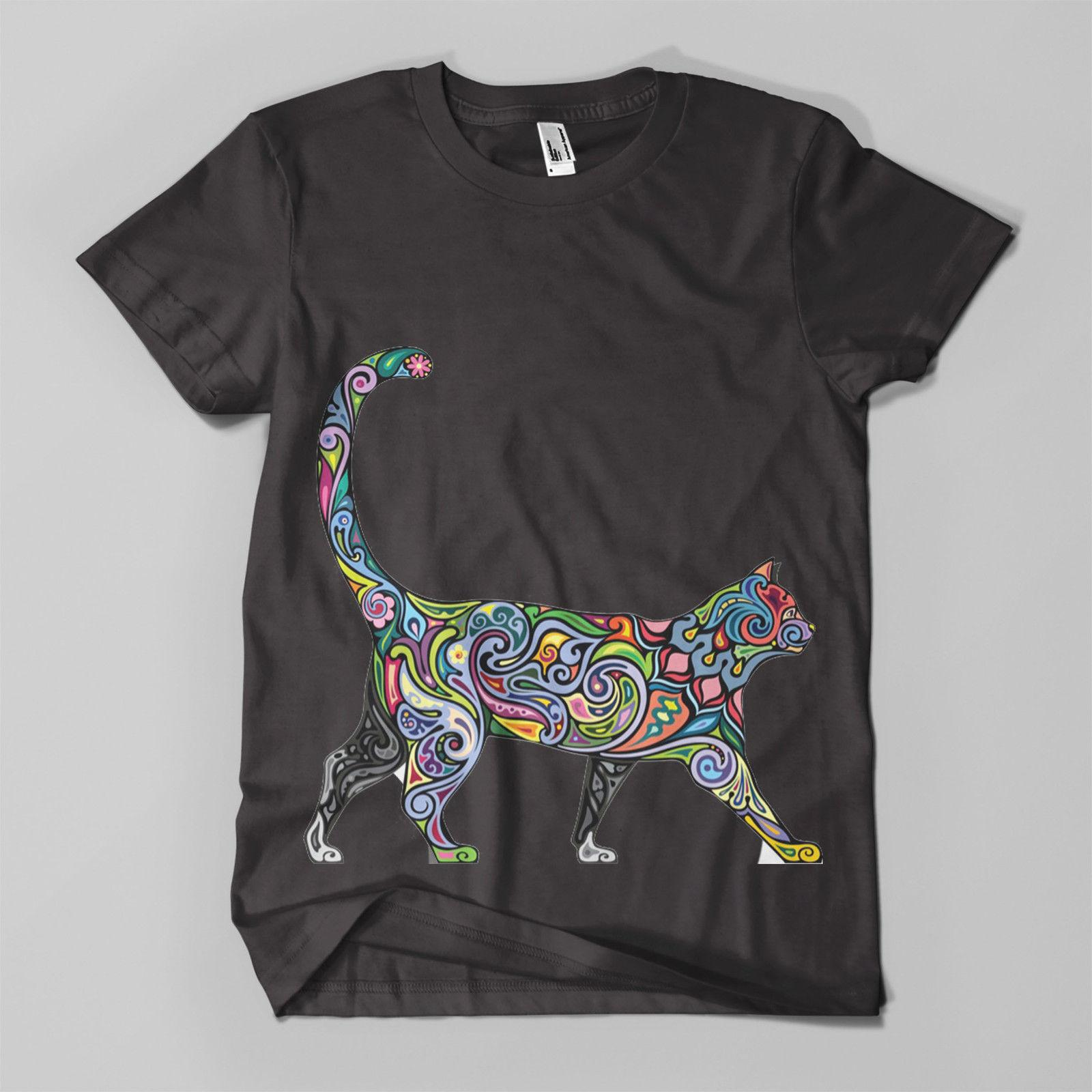 a98447ee9 Floral Cat #1 Printed T Shirt Hipster Design Meow Feline Mens Girls Tee Top  New New T Shirts Funny Tops Tee New T Shirt Shop Design Crazy T Shirts  Online ...