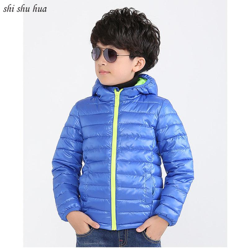 3cf012ba86ff Baby Boy S Clothes Winter Hooded Warm Coat Down Jacket Fashion Light ...
