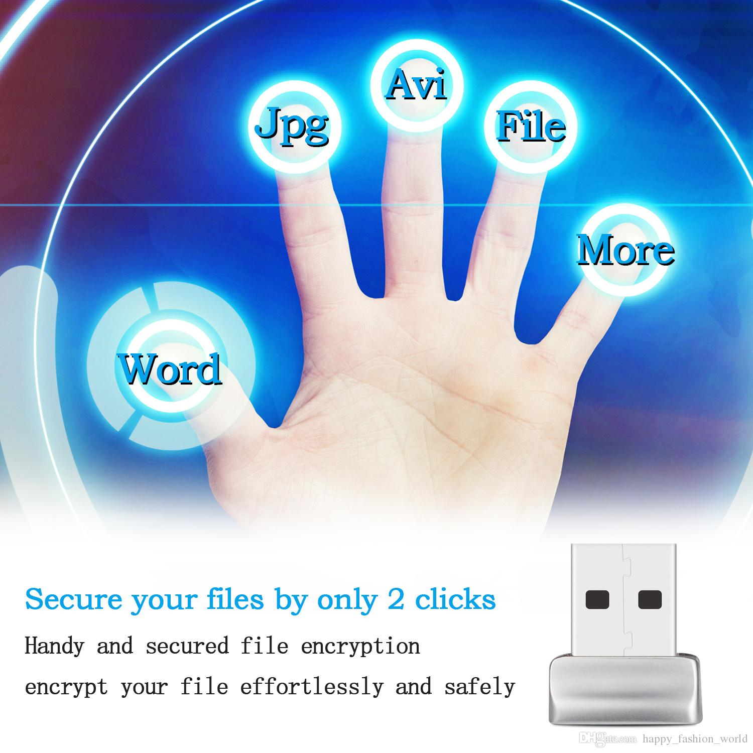 USB Fingerprint Reader Windows 7/8/10 Hello Biometrico Fingerprint Scanner PC Dongle file Password-free Crittografia sito Web Sicurezza