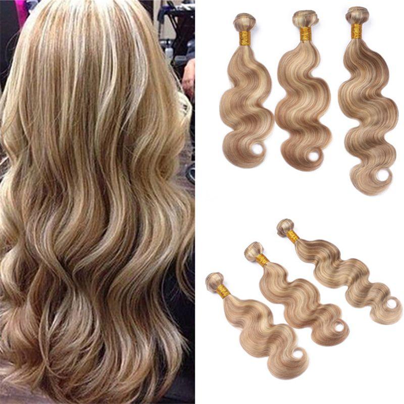 Virgin Malaysian Piano Human Hair Bundles 27 613 Honey Blonde