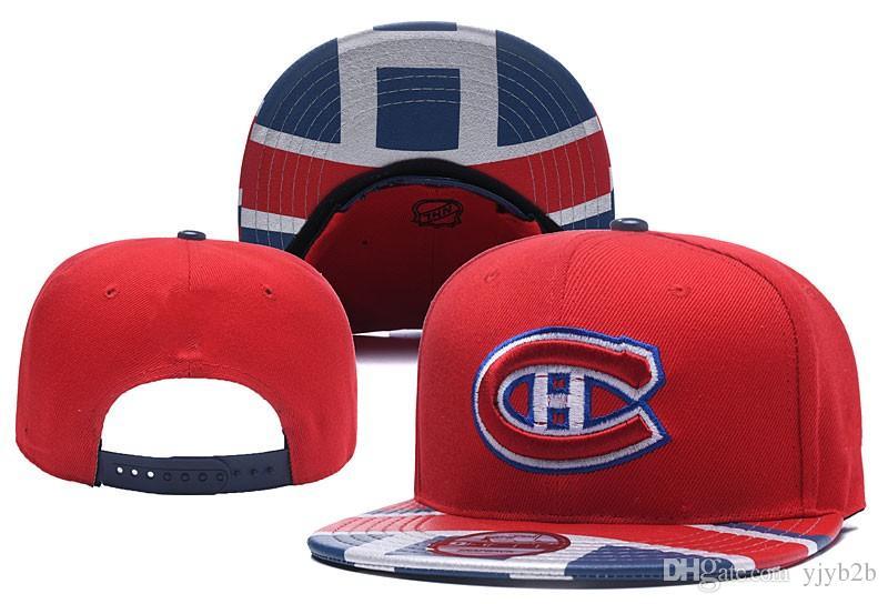 Compre 2018 New Montreal Canadiens Hockey Snapback Sombreros Logotipo De  Equipo Bordado Gorras Deportivas Hockey Sobre Hielo Béisbol Ajustable Con  Visera ... 73a8d158031