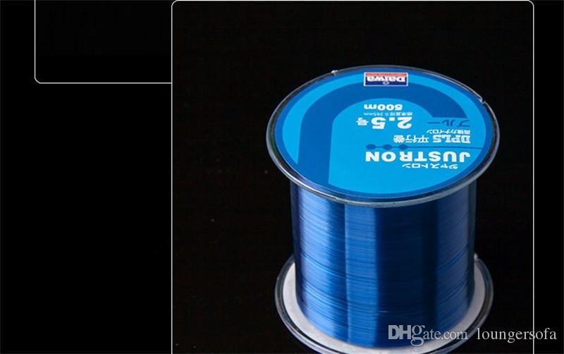 500 metri linea di pesca Raw Silk Wear Resisting Monofilamento di nylon Linee di pesca Super Strong Pull Thread Multi Color 6yk WW