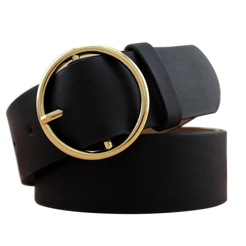 73d3ac7da Compre Moda Hebilla De Oro Cinturones Correa De Cuero Para Mujer Cinturones  Ropa De Mujer Ancho De Cintura Cummerbunds Señoras Fajas A $26.47 Del  Strips ...