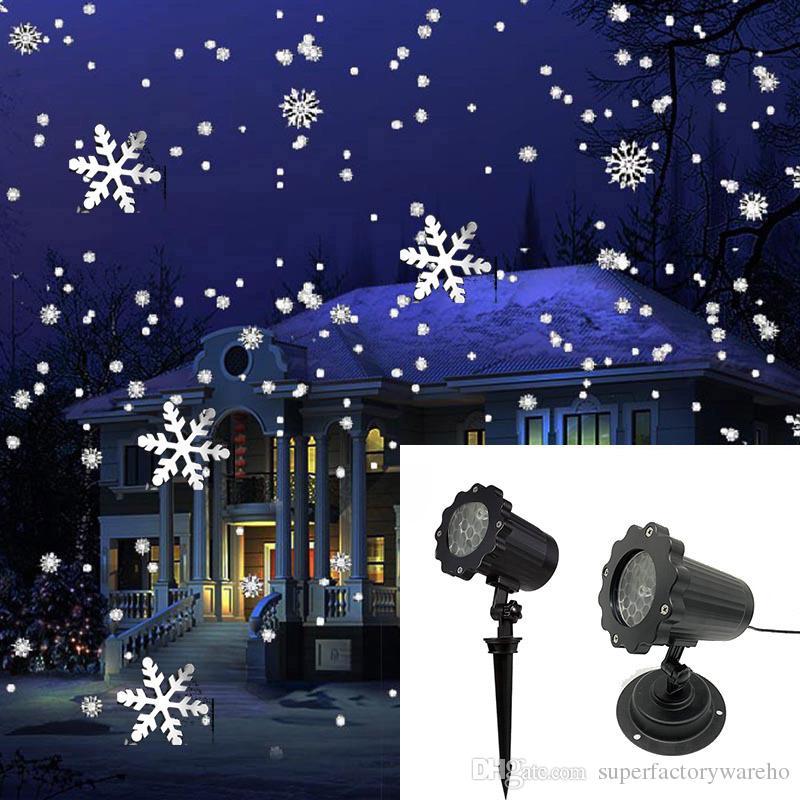Großhandel Weihnachten Snowflake Laserlicht Schneefall Projektor