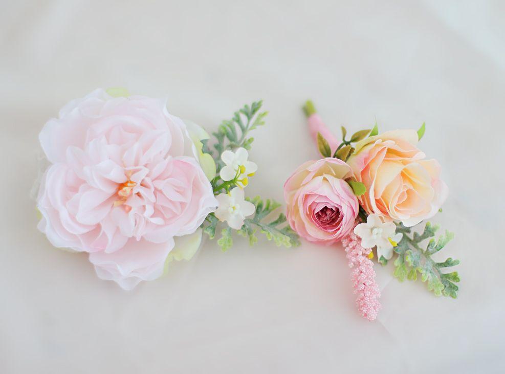 Benutzerdefinierte Braut Handgelenk Blume Brautjungfer Schwestern Gruppe Handgelenk Blume Rosa Blume einfachen Wind