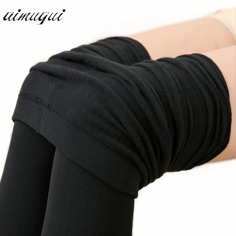 f5858ee89 2019 Sexy Women Warm Tights Slim Pants Microfiber Thermal Fleece Lined Stockings  Pantyhose Female Warm Velvet Pantyhose For Winter From Maoyili