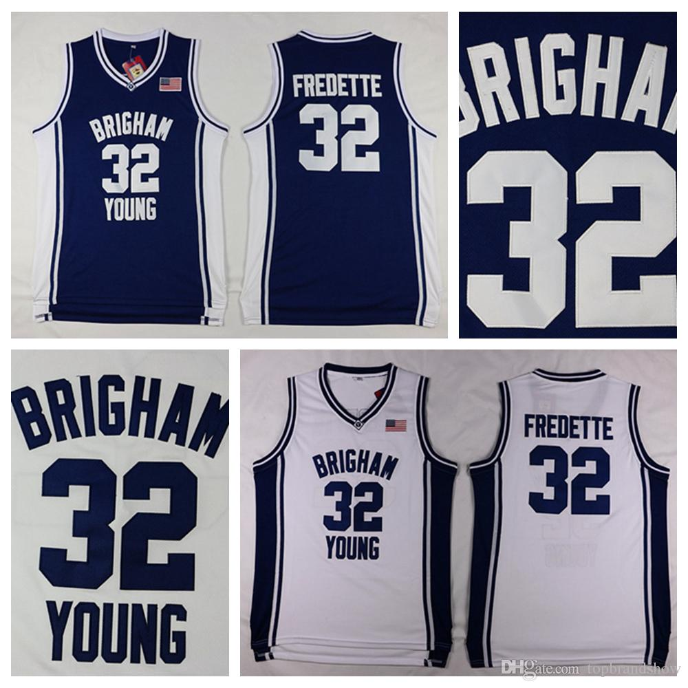 Cheap Brigham Young Cougars  32 Jimmer Fredette Jersey Stitched Navy Blue  University Jimmer Fredette College Basketball Jersey Shirts Jimmer Fredette  Jersey ... 865f3ecce