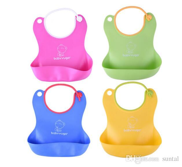 DHL New Baby Infants Kids Cute Bibs Lunch Bibs Newborn Children Waterproof Towel Washable Feeding Silicone Burp 0-6T