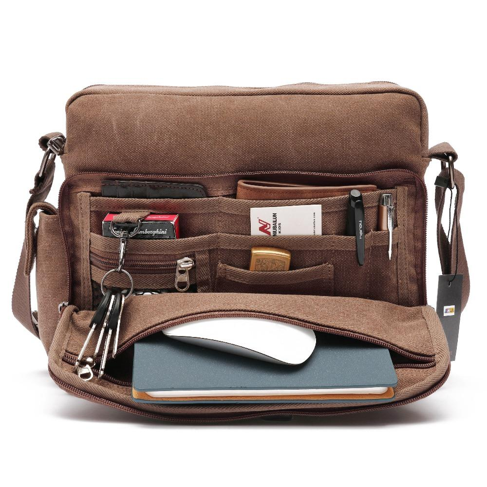 89a1fab2938f Vintage Canvas Laptop Messenger Bag For Men Casaul Shoulder Crossbody Purse  Male Business Handbag Travel Work Bags Schoolbag Crossbody Purse Cute Purses  ...