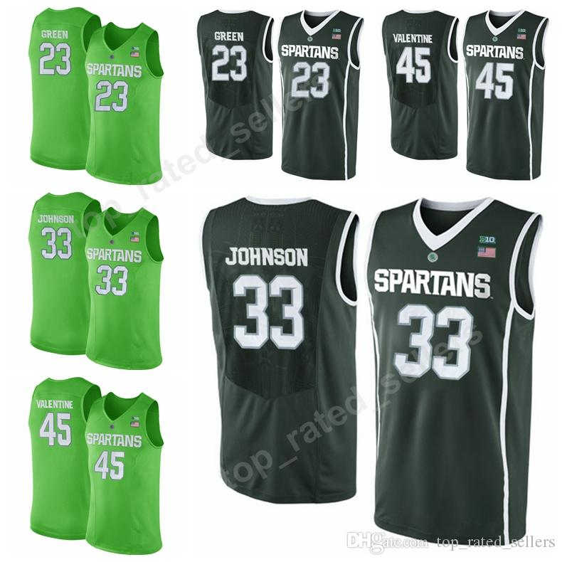 bbf4e7fd view full sizeap; 2018 college michigan state spartans basketball 23  draymond green jersey 33 magic johnson 20 matt mc