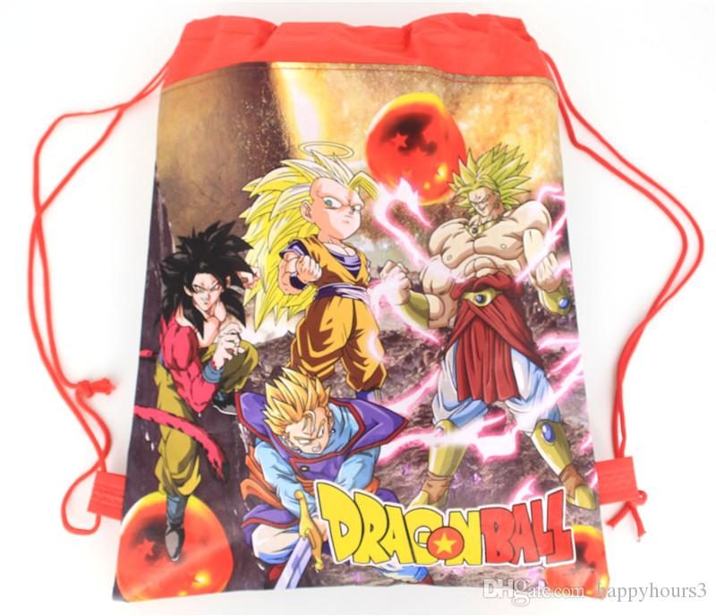 Dragon Ball Drawstring Backpack for Kids Party Cartoon Children School Bag Birthday Party Favors Children's Day Gifts
