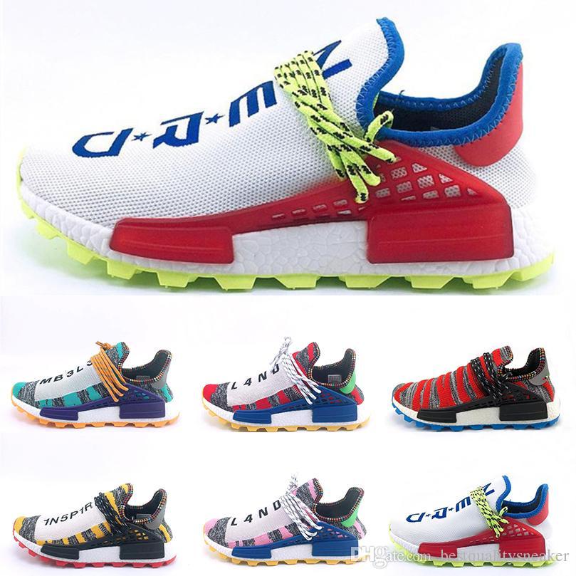 Deporte Triple Race Zapatos Blanco Human Negro Zapatillas 3 Hu Diseño Williams 0 1 Correr Hombre De Pharrell 0 2019 Outdoor Para wOPkNn80X