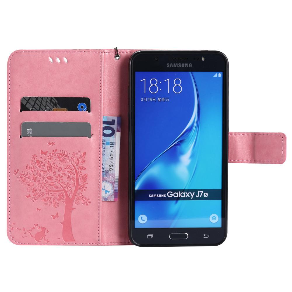 For Samsung Galaxy J7 2016 Case Fundas J710 6 J710f 3d Tree Cat