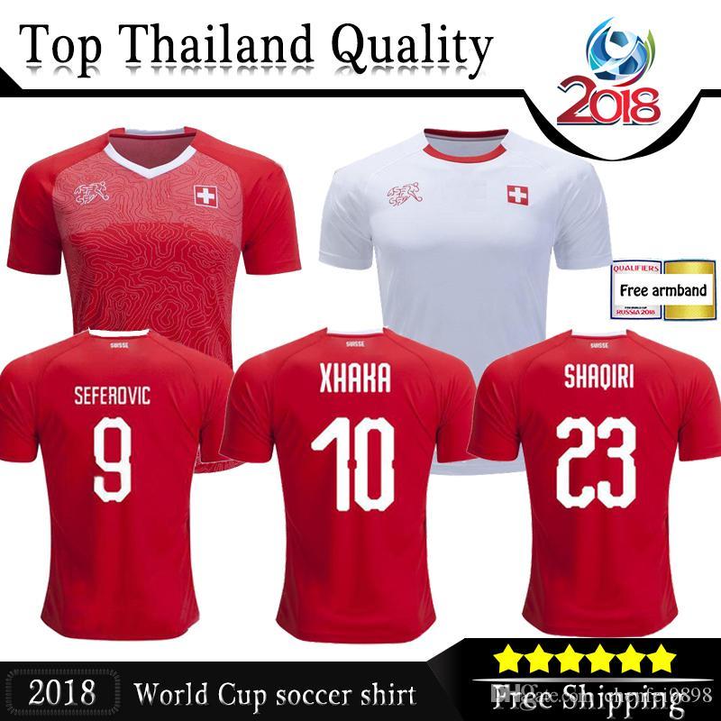 657f34b24 2019 2018 World Cup Switzerland Soccer Jersey Home Away Football Unifo Thai  Quality EMBOLO XHAKA RODRIGUEZ ZAKARIA SHAQIRI Jersey Football Shirts From  ...
