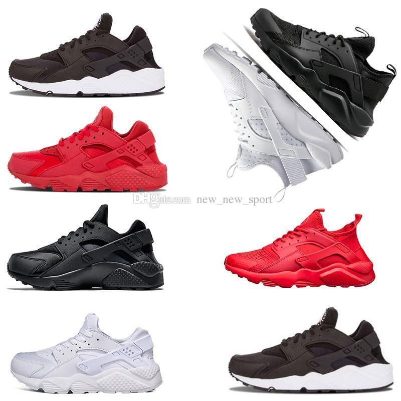 size 40 642cc 4dc67 Compre Nuevo Huarache 1.0 4.0 Para Hombre Mujer Zapatillas Triple Negro  Blanco Gris Oro Todo Rojo Entrenadores Hombres Diseñador Zapatos Deportivos  ...