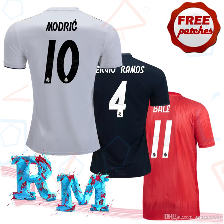 2019 Top Thai Quality Real Madrid 2018 2019 Home Away 3RD Soccer Jerseys  Camisa De Isco Asensio Marcelo Kroos Bale Football Shirts XXL 3XL 4XL From  ... 17d22754b