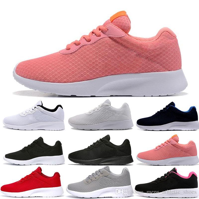 e10cc9b7 Compre Nike Sapatas Do Esporte Sapatilhas Mulheres Formadores Sapatos De  Grife De Luxo Tanjun Rosa Preto Branco Vermelho Azul Dos Homens De Várias  Cores ...
