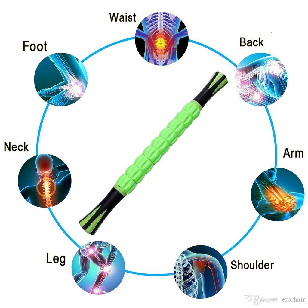 Massaggio del rullo del muscolo del corpo Rilassa il bastone del muscolo del tessuto profondo i corridori Allenamenti di viaggio Atleti di yoga Sollievo dal dolore