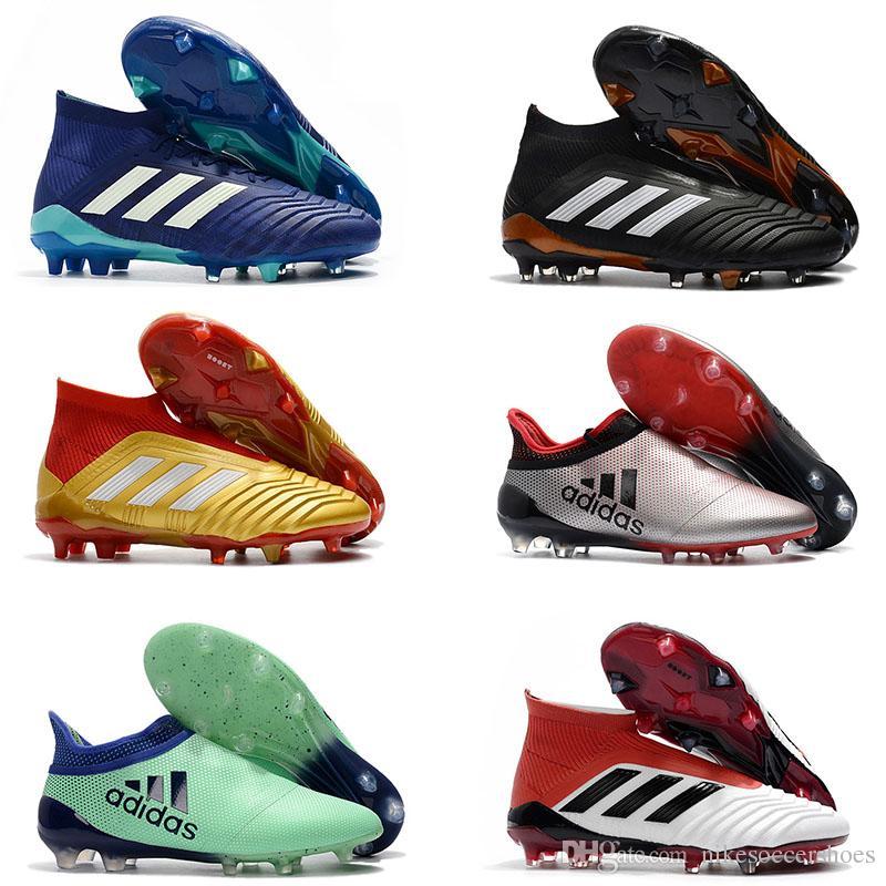 719263242e Compre 2018 Mens ACE 17 PureControl FG Botas De Futebol Predator 18 + FG  Alta Tornozelo Sapatos De Futebol Chuteiras De Futebol Dos Homens Botas De  Alta ...
