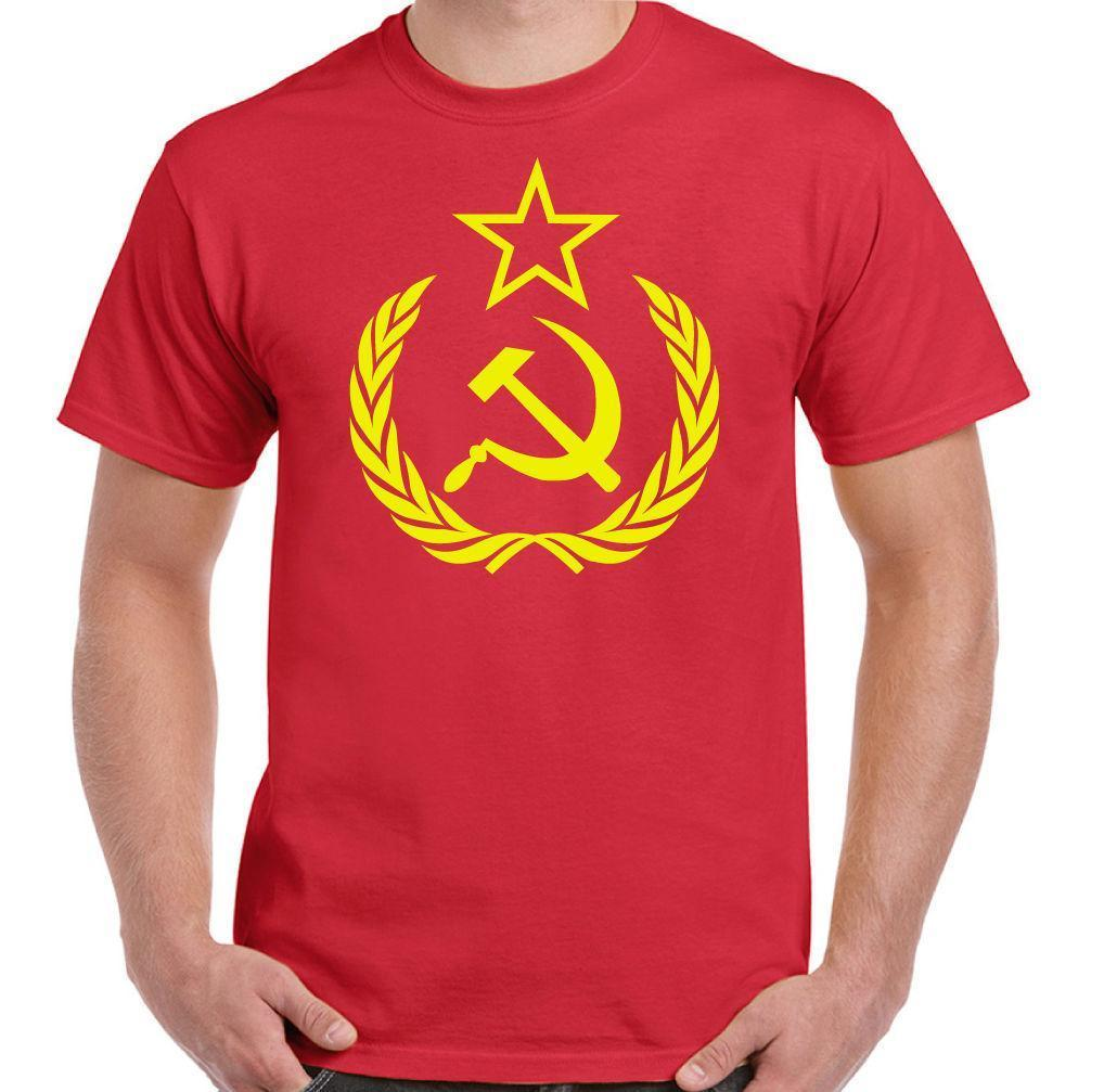 aafadfd4eb35 Hammer   Sickle Mens Russian Communism T Shirt Logo Russia USSR Soviet  Union T Shirst It T Shirt From Yuxin006