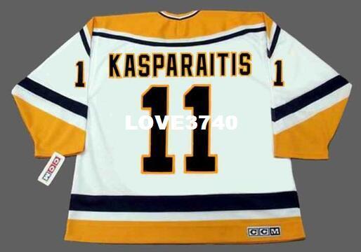 Mens   11 DARIUS KASPARAITIS Pittsburgh Penguins CCM RETRO Home ... a5e873a4b