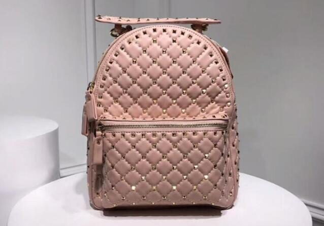 278e0153d538 AAA 26cm Spike Backpack Studded Nylon Rucksack Quilted With Micro Stud,Zip  Closure,Nappa Leather Lining,Adjustable Straps,Womens Bags Wholesale Bags  From ...