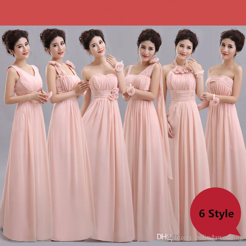 Excelente Vestidos De Dama De Gasa Blush Ideas Ornamento Elaboración ...