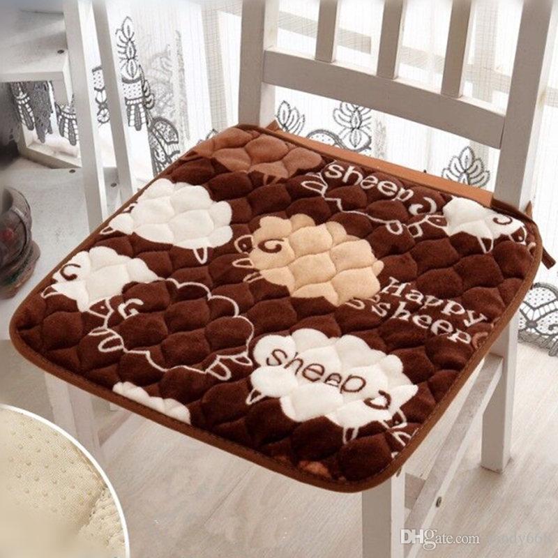 Cojines Sofa Chocolate.Anti Slip Flannel Home Decor Sofa Car Seat Cushion 40 40 43 43 50 50cm Office Chair Cushion Mat Sitting Pad Almofadas Cojines Dining Seat