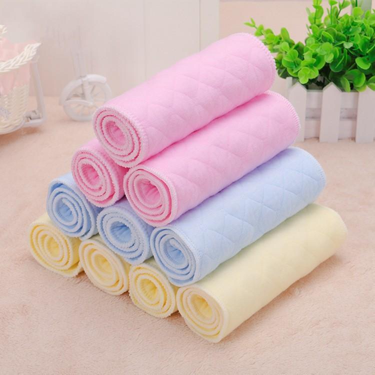 Transpirable y cómodo 6 capas de algodón ecológico colorido del paño del bebé de pañales lavables pañales reutilizables inserciones de cambio de pañales