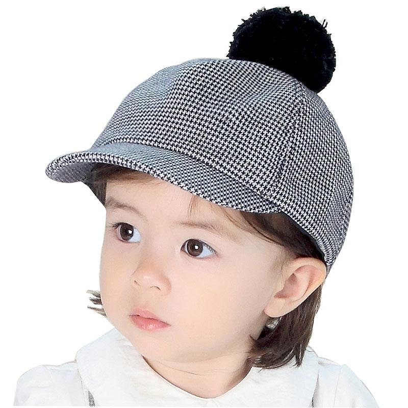 bb550881d1c Baseball Cap Kids Boys Girl Baby Cute Pink Boys Hat Cap Plaid Ear Pom Pom  Baseball Hat Girl Kids Caps Custom Hats Mens Hats From Winterleng