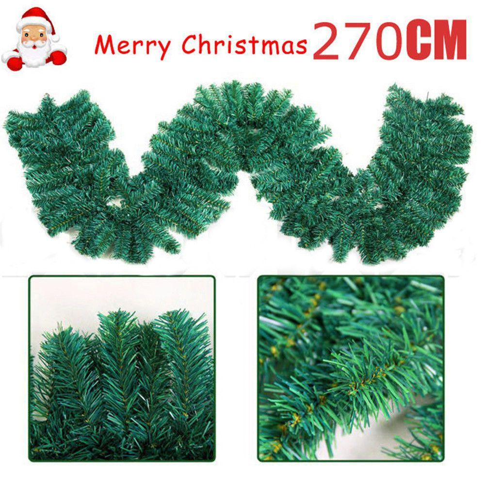 2 7m Home Pine Christmas Garland Fireplace Wreath Xmas Decor 160 Heads Popular