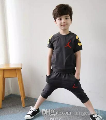a53a45571ef6 New Boy Brand Kids Sets Children T-shirt And Shorts Pants Kids ...