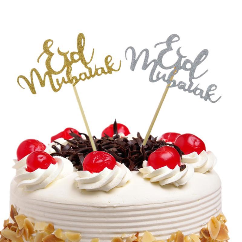 Großhandel 10 Stücke Kuchen Toppers Eid Mubarak Hochzeit Baby Shower ...