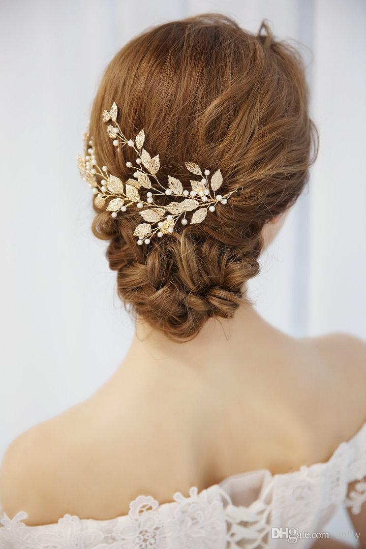 2019 Weding Bridal Leaf Hair Decoration Woman Bridal Hair