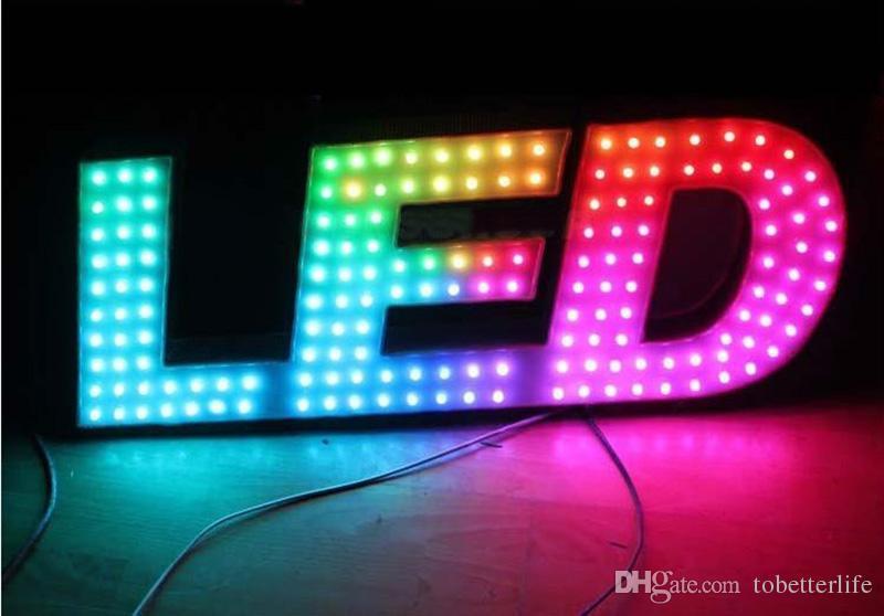 RGB WS2811 IC a mené le module de pixel allume 12mm IP65 les lumières de point imperméables de DC 5V enfilent la lumière adressable de Noël pour le signe de lettres