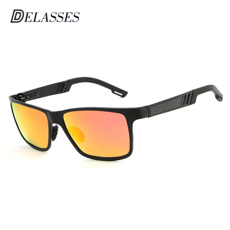 0ddefb5d8f DELASSES Polarized Sunglasses Men Brand Designer New Fashion MG Al Glasses  Driving UV400 Hot Rays Eyewear Goggles Oculos De Sol Sunglasses Cheap  Sunglasses ...