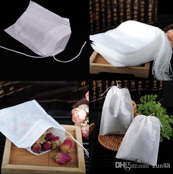 6 * 7 cm reutilizável com corda pendurado sacos vazios de chá fino nylon malha saco de filtro de estirpe erva solta diy copo coador de chá