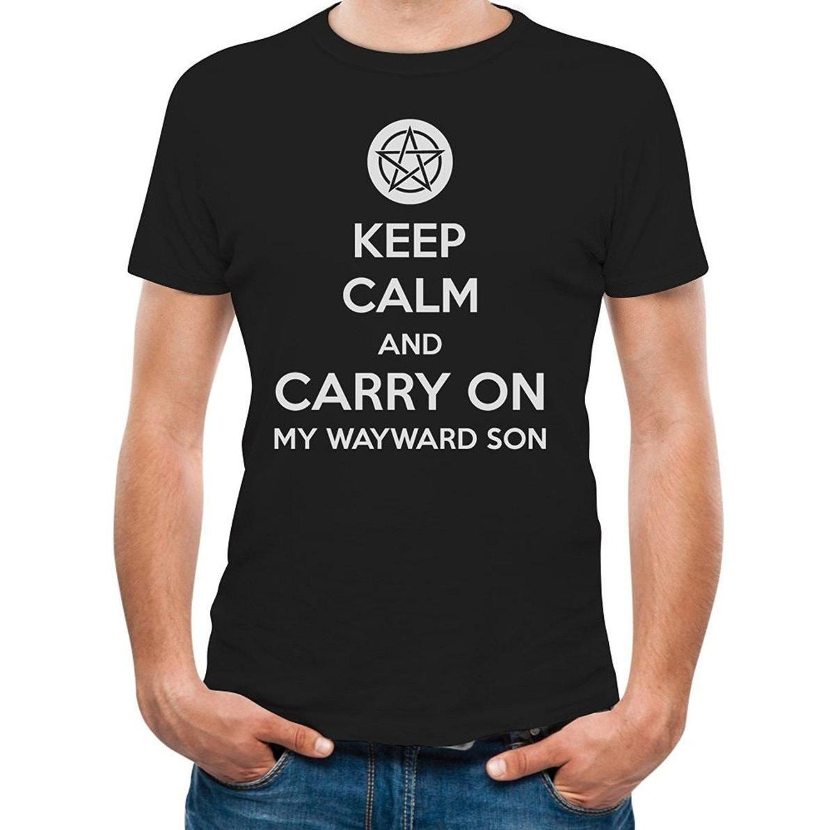 Printed Tee Shirt Design Keep Calm And Carry On My Wayward Son T