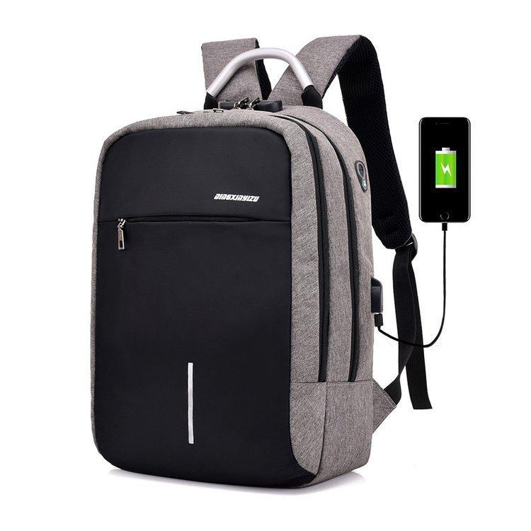 c20402e6dd84 Business Travel Dual Backpack Men Women Fashion Multi Function Anti Theft Backpack  USB Charging Shoulder Computer Bag Nylon Swiss Backpack Laptop Rucksack ...