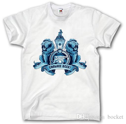 e5f1e594e864 ZENIT ST PETERSBURG SHIRT S XXXL RUSSIA FOOTBALL CAMISETA FUTBOL SOCCER  ULTRA Cool T Shirts T Shirts Online From Bocket