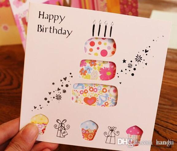 Wholesale Creative Hollow Out Birthday Greeting Card Blessing Cards Online With 3755 Piece On Hangus