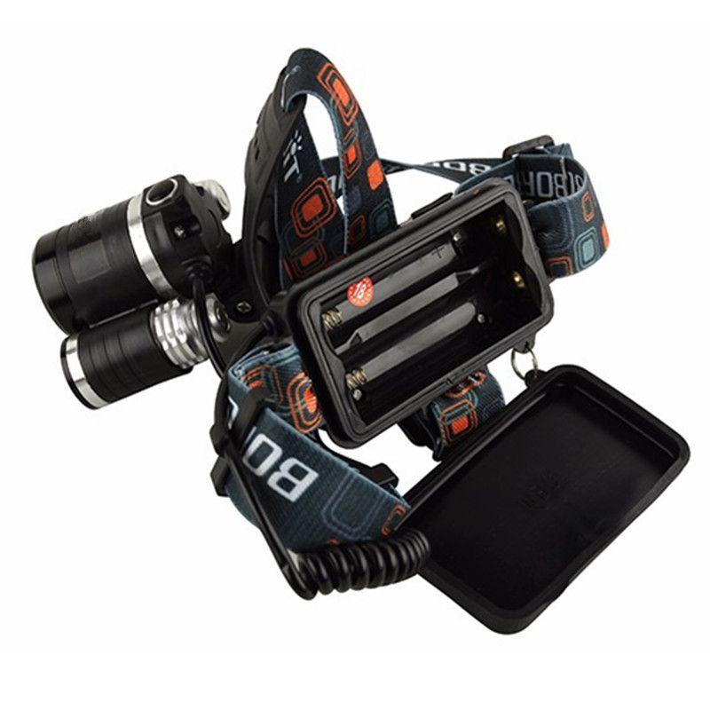 4-mode torcia batteria 2x18650 caricatore di UE dell'automobile US luce nuova del CREE XML T6 + 2R5 LED faro del faro capo della lampada la pesca Lights