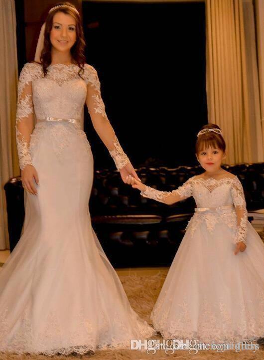 Vestidos Primera Comunion Balo Çiçek Kız Elbise Dantel Toddler Glitz Pageant Elbiseler Pretty Çocuklar Balo Elbisesi