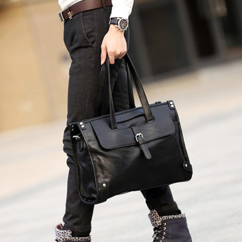 Bags Men's Accessories Tidog Male bag men cross section single shoulder bag business casual briefcase