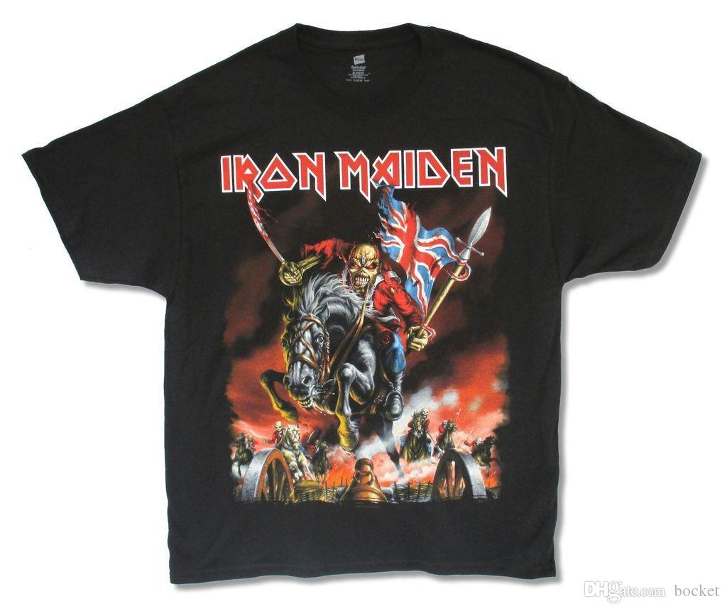 Iron Maiden Horse Rider 2012 Hombres camiseta negra New Official Band Merch