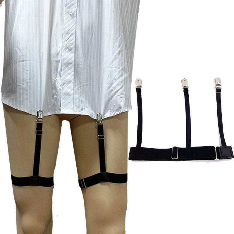 Open-Minded 1 Pair Fashion Elastic Adjustable Legs Belts Suspenders For Men Shirt Holders Suspenders Mens Clothes Accessories Men's Accessories