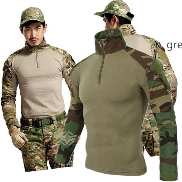 Compre Camuflaje Táctico Uniforme Militar Ropa Traje Hombres US Army  Multicam Caza Camisa De Combate O Pantalones De Carga A  33.51 Del Plocccc   e72d2017262