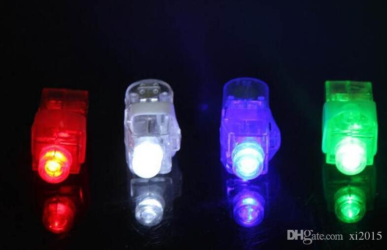 Plastic LED Finger Light Glowing Dazzle Colour Laser Emitting Beams Ring Torch Wedding Party Christmas Decoration
