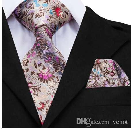 0ece052af18d Hi-Tie New Fashion Floral Tie Luxury Silk Ties for Men 160cm Long ...