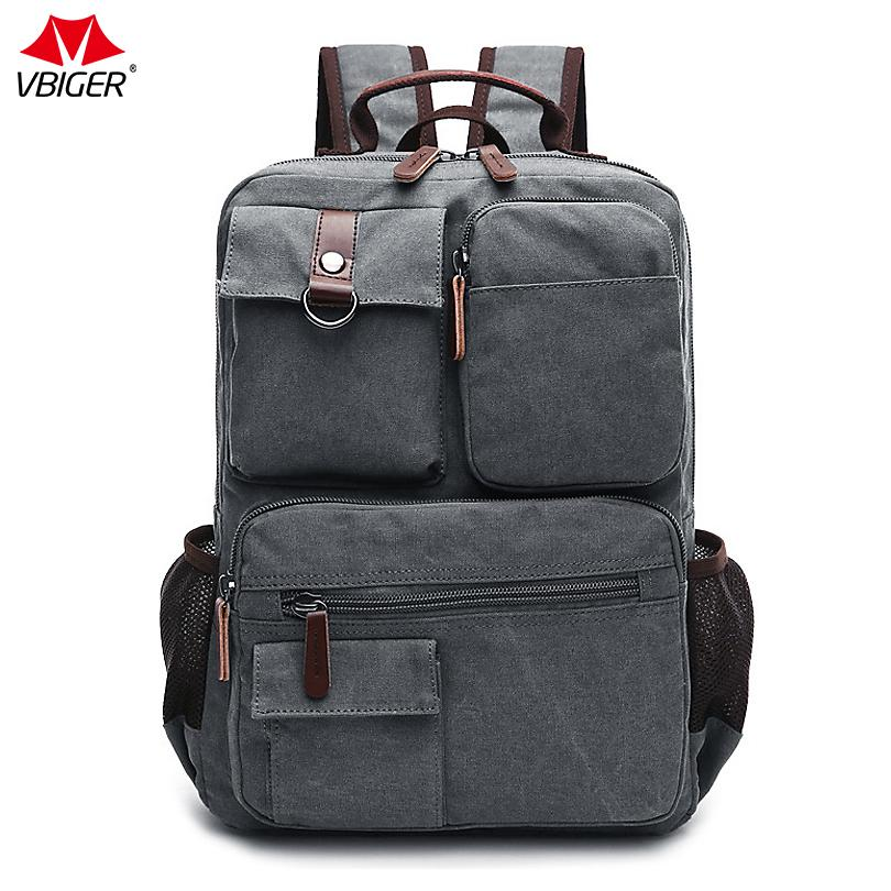 Vbiger Hot Sale Multi Functional Canvas Backpack Fashionabl Daypack Casual  Travel Shoulders Bag For Men Large Capacity Bags Ladies Suitcases Womens ... 45b192616
